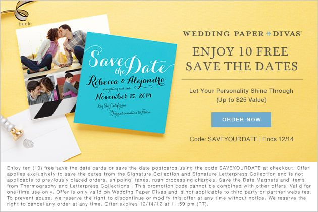 Wedding Paper Divas 10 Free Save The Date Cards Wedding Paper Divas Free Ecards Birthday Save The Date Cards