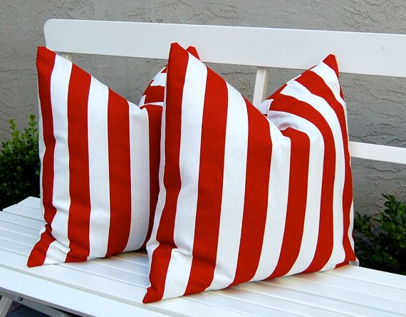 Decorative Throw Pillow Covers Red And White Awning Stripe Throw Pillow Covers 2 Red Decorative Pillows Decorative Throw Pillow Covers Decorative Pillows Couch