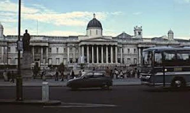 Trafalgar Square Charing Cross Central London England in 1979