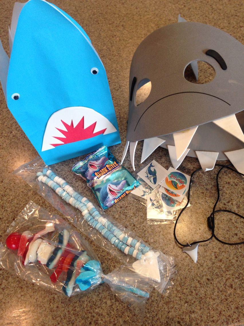Shark birthday goodie bags Bday party kids, Sea birthday