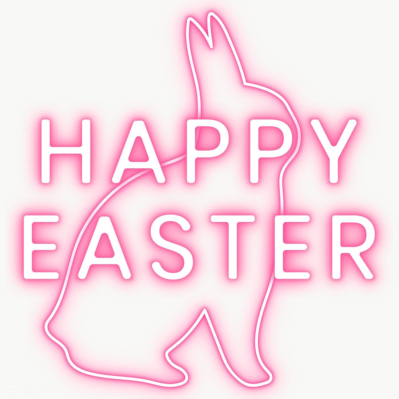 Pink Happy Easter Sign With Bunny Neon Light Transparent Png Free Image By Rawpixel Com Nunny Happy Easter Sign Easter Signs Happy Easter Card