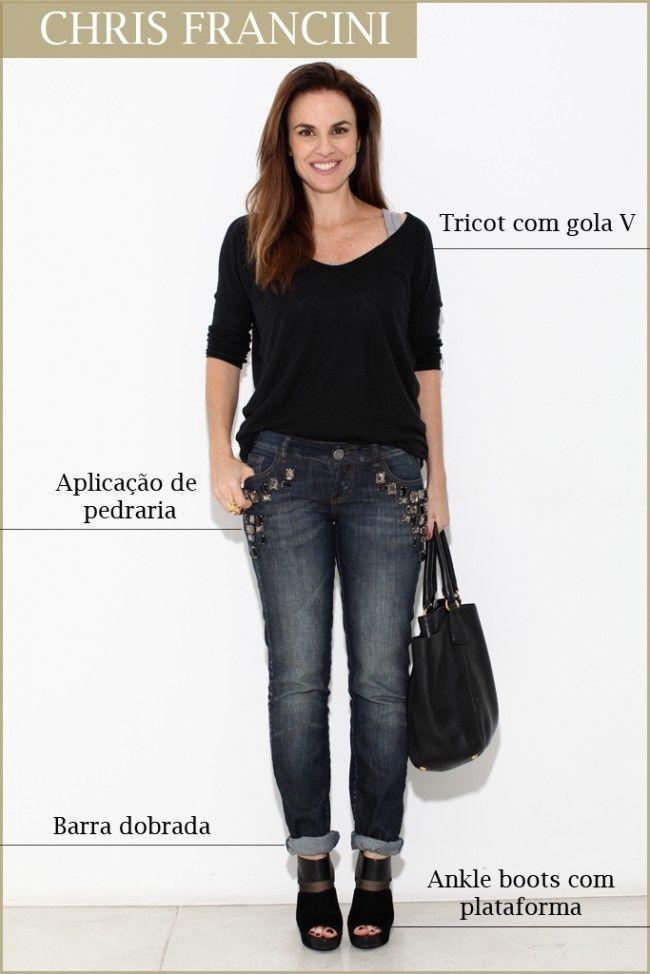Blusa Zara, jeans Colcci, anel Provence, bolsa Prada e ankle boots Miesko