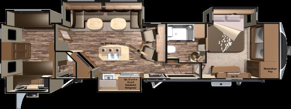 2017 Open Range 3x Fifth Wheels By Highland Ridge Rv Rv Floor Plans Travel Trailer Floor Plans Camper Flooring