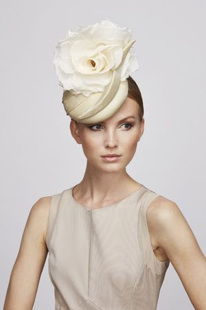 52d960fe8ed82 Champagne Flower cocktail hat
