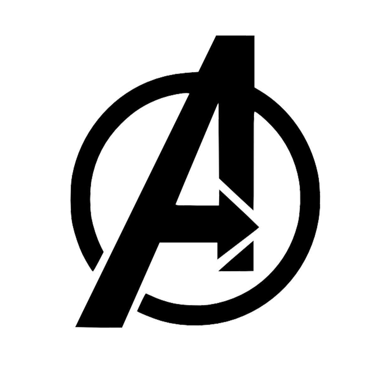 Camiseta Los Vengadores (The Avengers). Logo negro