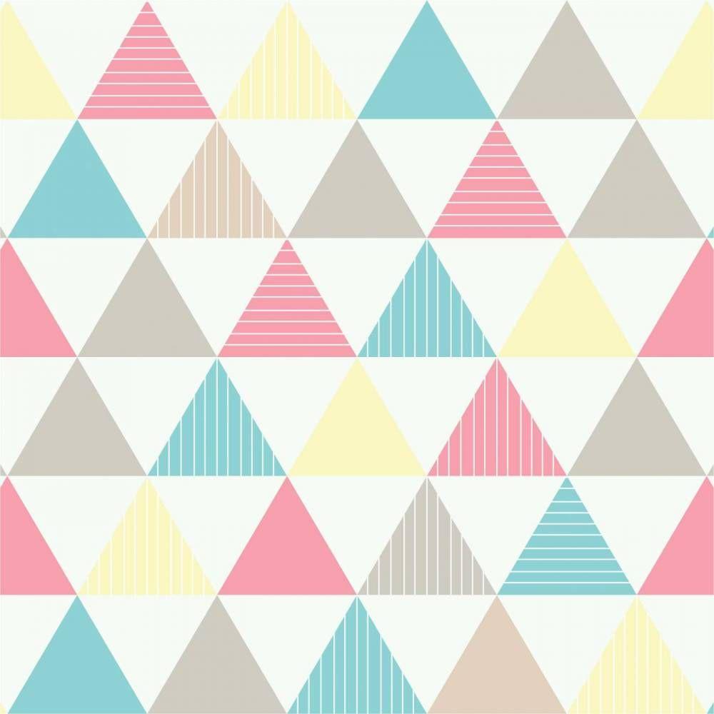 7879b89774 Papel de parede geométrico triângulos azul