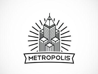 Minimal Metropolis Black And White Logos Logo Design Metropolis