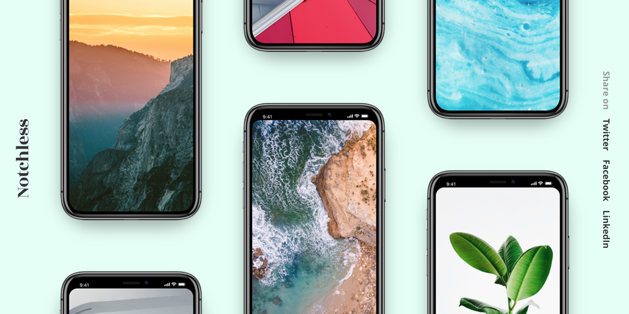 Notchless Beautiful wallpapers designed to hide the iPhone