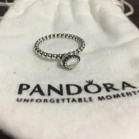 b4ec8bdfd632b Authentic Pandora April Birthstone Ring Birthday Bloom collection ...