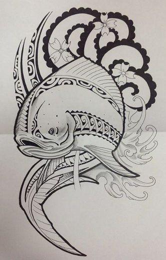 polynesien-dessin-poisson   poissons   pinterest   samoan tattoo