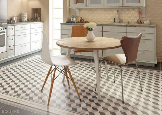 Carrelage Cuisine Sol Mur Carreaux De Ciment Beau Créatif Et - Sol cuisine carreaux ciment pour idees de deco de cuisine