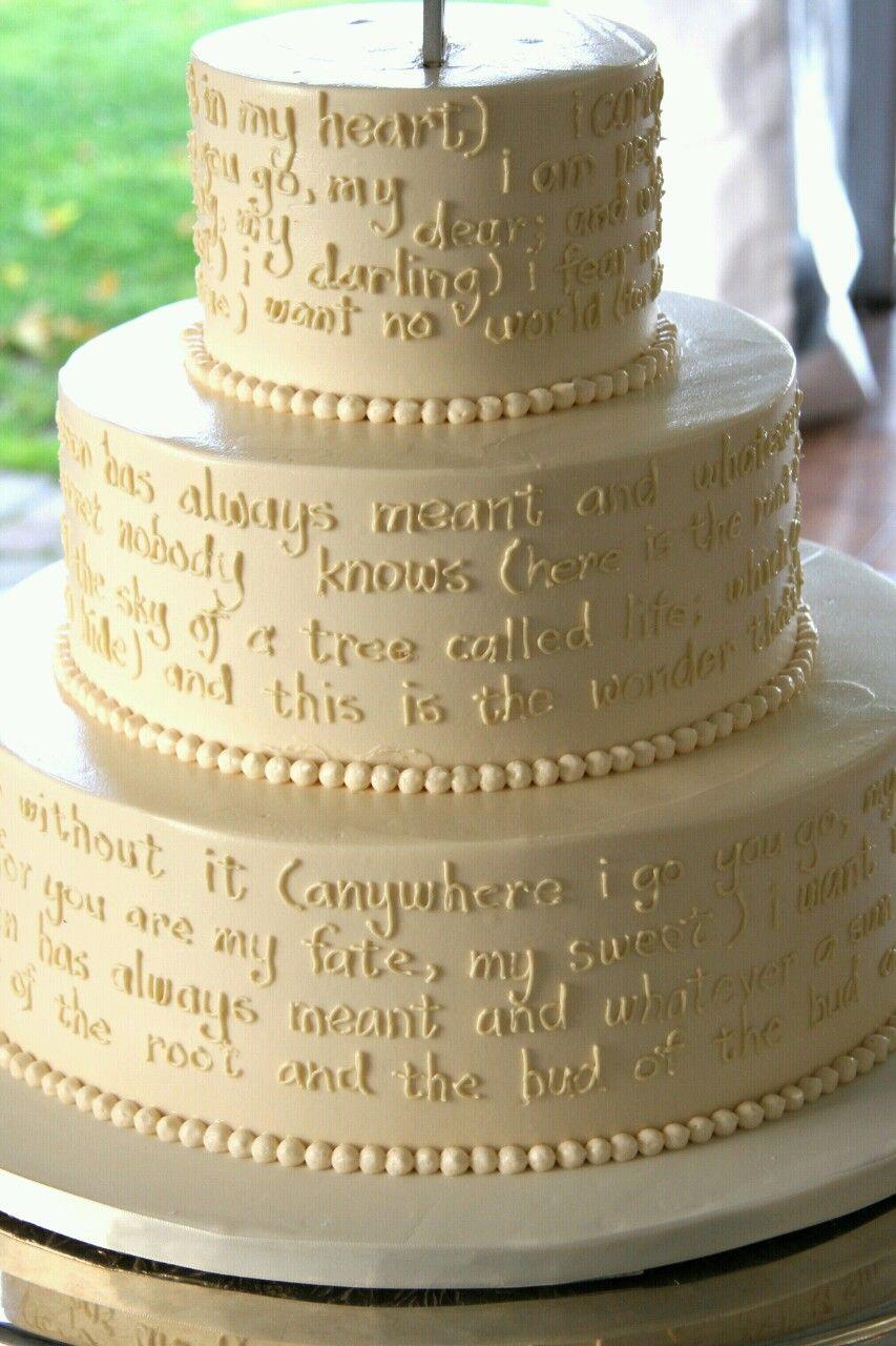1 Corinthians 13 wedding cake
