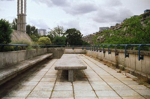 detritusofourcivilization:  Bench / Table, Alexandra Road Estate by Tim Slessor on Flickr.