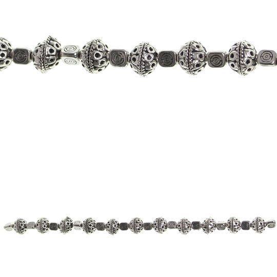 Bead Gallery Dot Metal Bead Caps, Silver