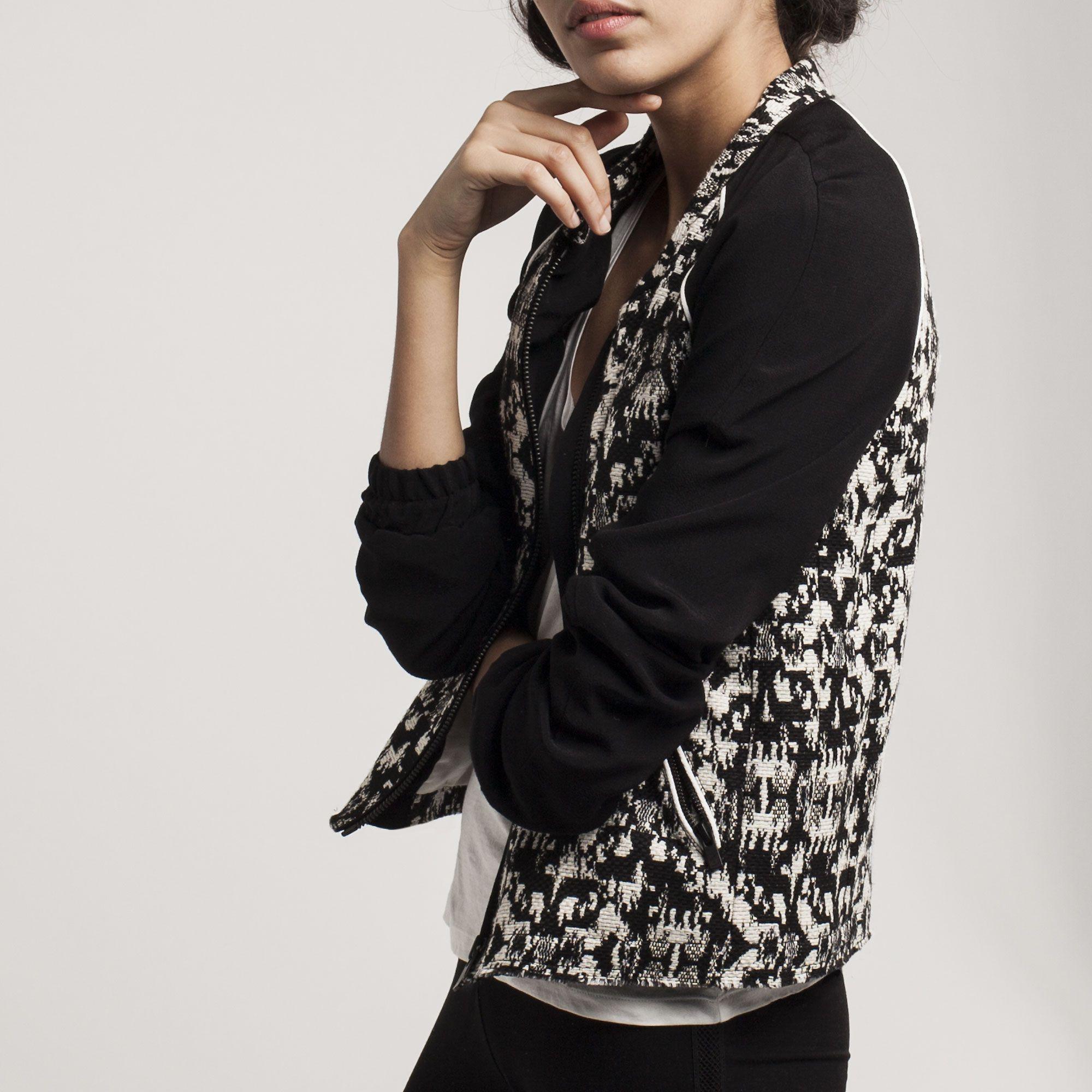 Blouson Teddy Jacquard Veste Pinterest Femme Ikks Mode dYRxCq1w