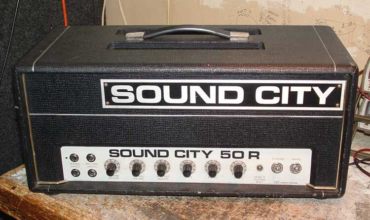 Sound city guitar amp.