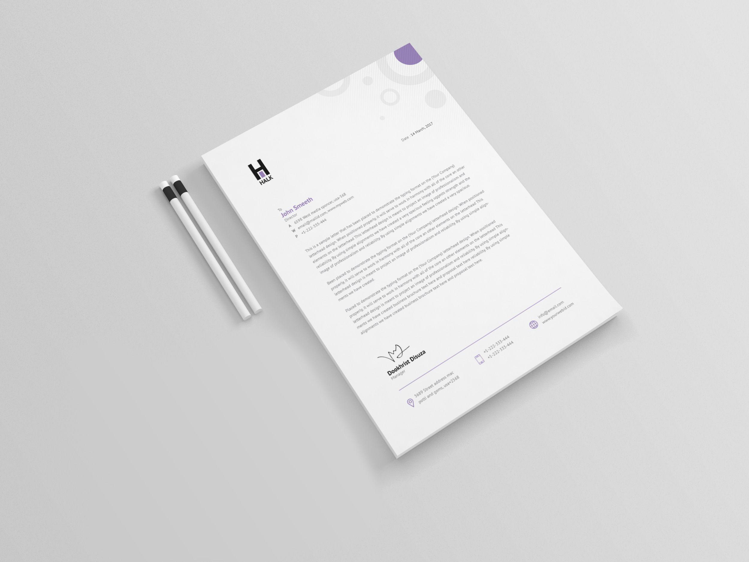 Achelous Professional Corporate Letterhead Template Graphic Templates Letterhead Template Letterhead Design Letterhead