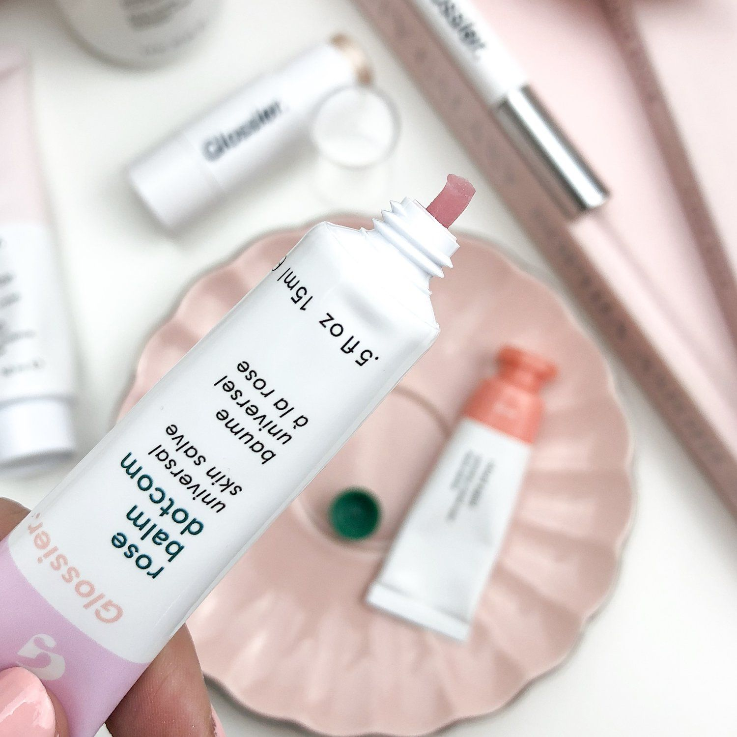 Glossier Balm Rose I got the flavour 'Rose' and