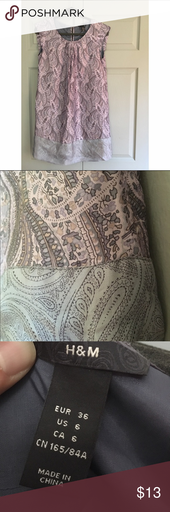 Hum purple paisley dress worn a handful of times and several years
