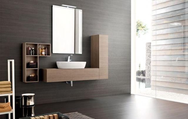 Moderne Badeinrichtung Ideen Wind Set Holz Design Bathroom