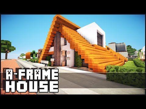 Minecraft Small A Frame House A Frame House Modern Minecraft Houses Minecraft