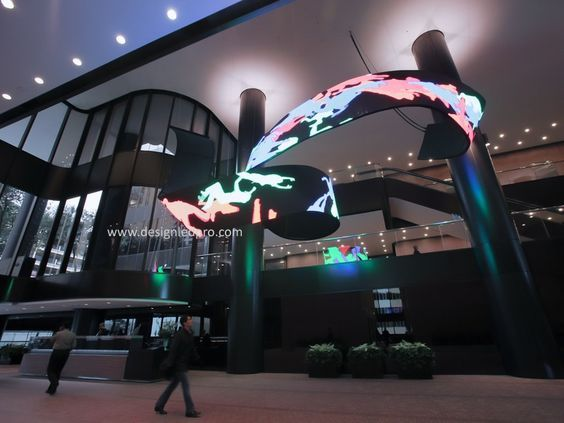 Flexible Led Screen Is Applied For Tv Studio Airport Retail Shop Architecture Custom Led