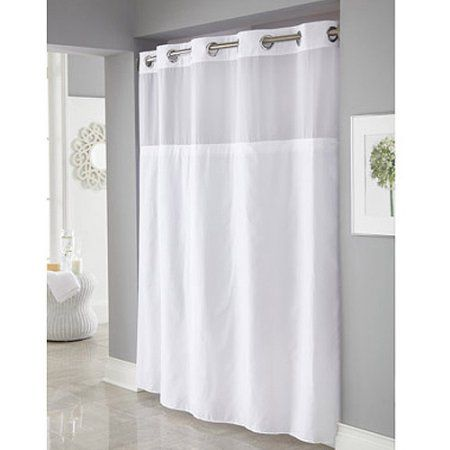 Home Hookless Shower Curtain Shower Curtains Walmart White Shower