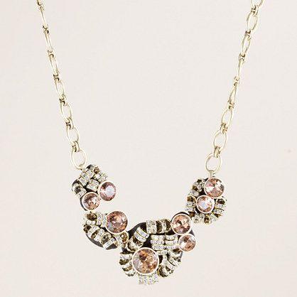 Crystal brûlée statement necklace