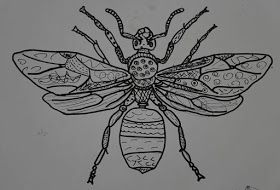 Zentangle and Patterned Bugs | Bugs! | Sisters art, Art room doors