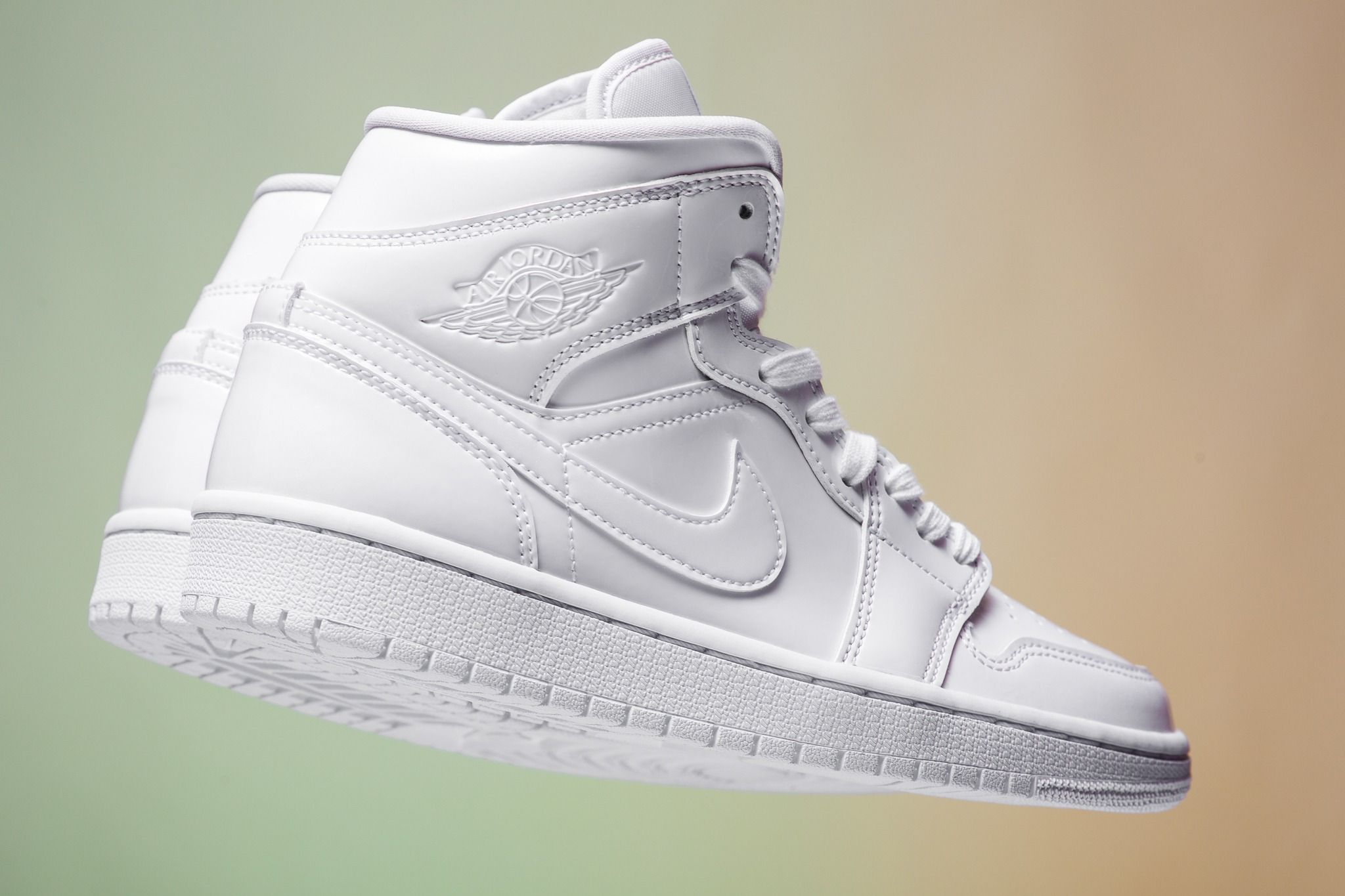 WMNS Air Jordan 1 Mid in Triple White for Spring 2019 ...