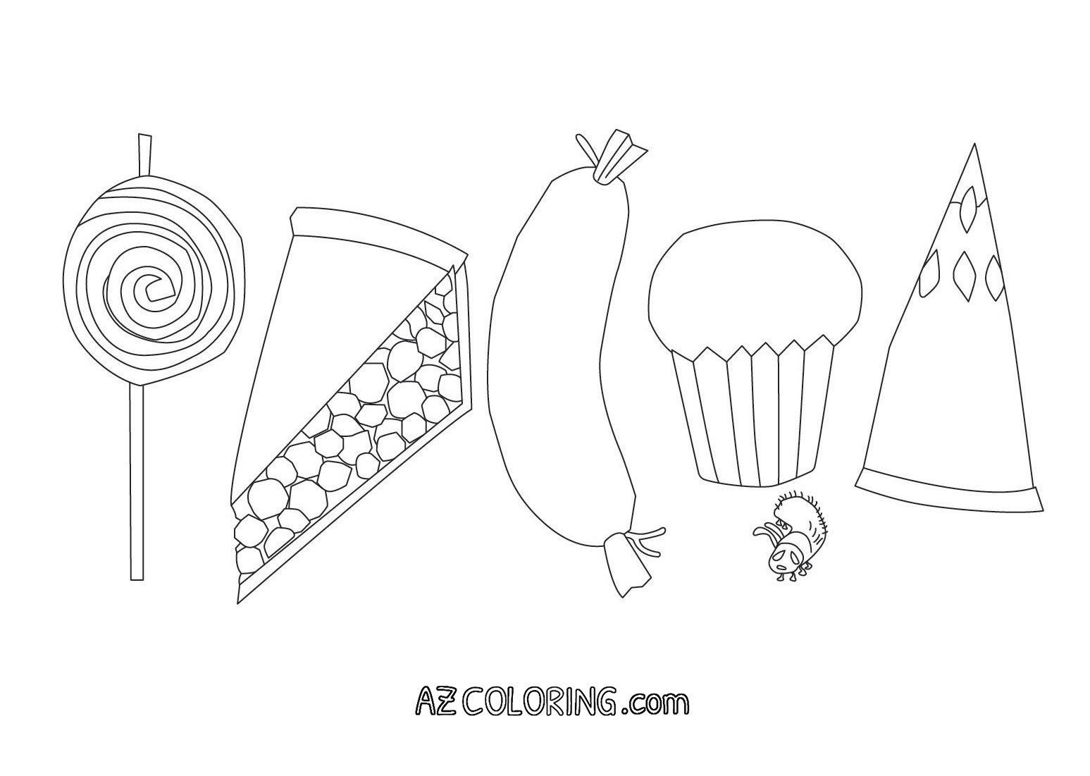 Hungry Caterpillar Coloring Pages Coloring Pages Very Hungry