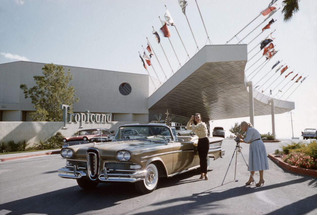 Las Vegas, 1957 at the Tropicana. The hotel was new and so