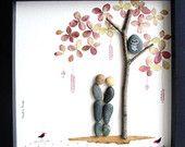 Einzigartige Engagement personalisierte Geschenk Paares Geschenk - Original paar Geschenke - Kiesel-Kunst - Liebe Geschenke - einzigartige Hochzeitsgeschenk