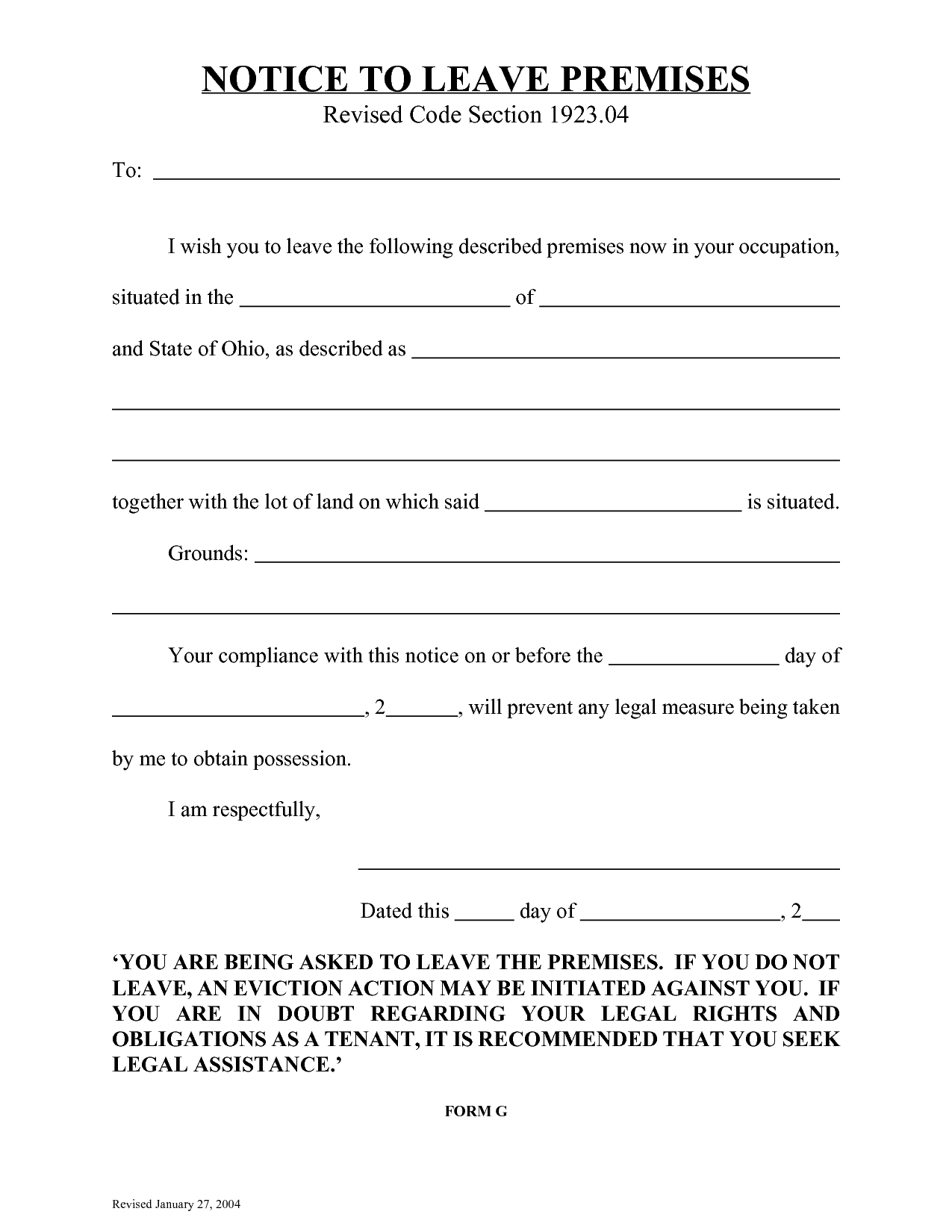 10 Best Images Of Eviction Notice Florida Form Blank