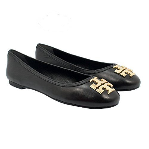 TORY BURCH Tory Burch Laura Shoes Ballet Flats Mestico Leather TB Logo. # toryburch #