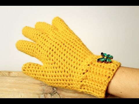 Love Diy Ideas This Is Step By Step Guided Video Tutorial How To Crochet Gloves With Fingers Crochet Gloves Pattern Crochet Fingerless Gloves Finger Crochet