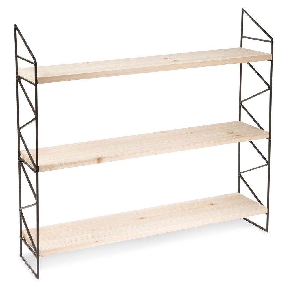 Bibliotheques Et Bureaux Wooden Shelf Unit Metal Shelves Shelves