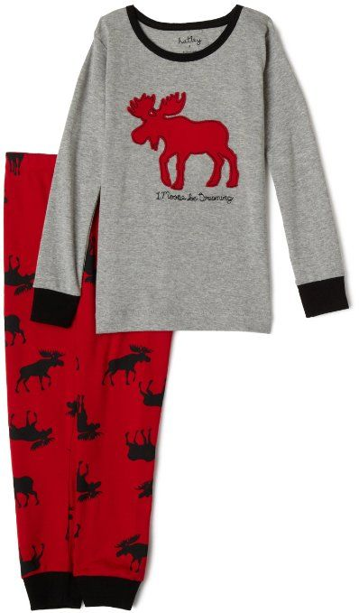 8d66678fe Amazon.com  Hatley Boys 2-7 I Moose Be Dreaming Pajamas