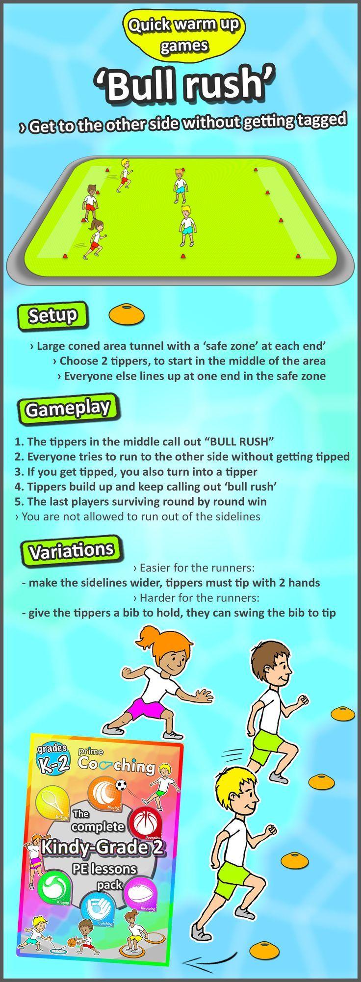 Classroom Warm Up Ideas ~ Free kindergarten grade pe sport lesson tip tag