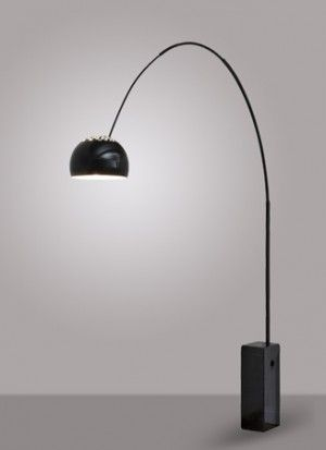 Black arco floor lamp replica by achille pier castiglioni black arco floor lamp replica by achille pier castiglioni iconic lights mozeypictures Image collections