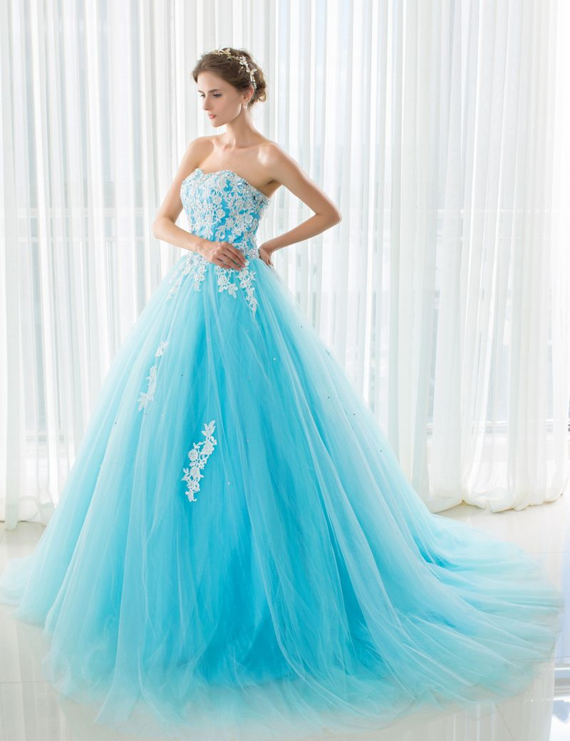 Sky Blue Wedding Dress - Wedding Dresses for Plus Size Check more at ...