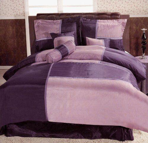Click To Order 65 99 Patchwork Bedding Comforter Set Purple