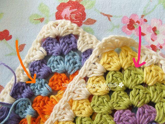 Carina\'s Craftblog: Granny square joining tutorial   Grannys ...