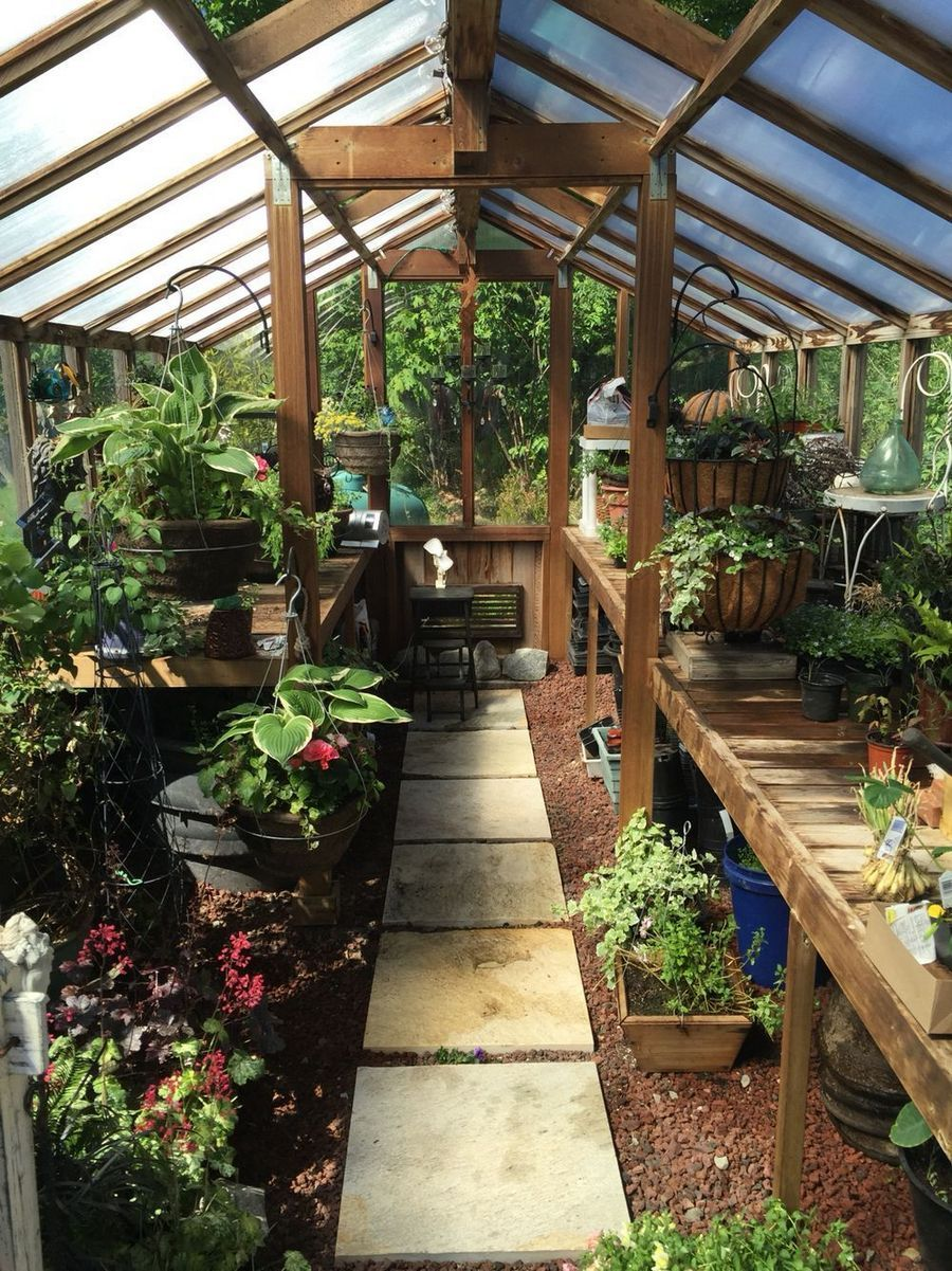 The Right Sort Of Interior Design Ideas Along With A Balance Of Very Good Colour Scheme Selection Paint Backyard Greenhouse Green House Design Home Greenhouse