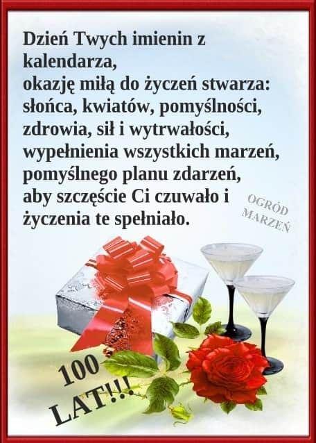 Pin By Alicja Kubik On Zyczenia Imieninowe Happy Birthday Happy