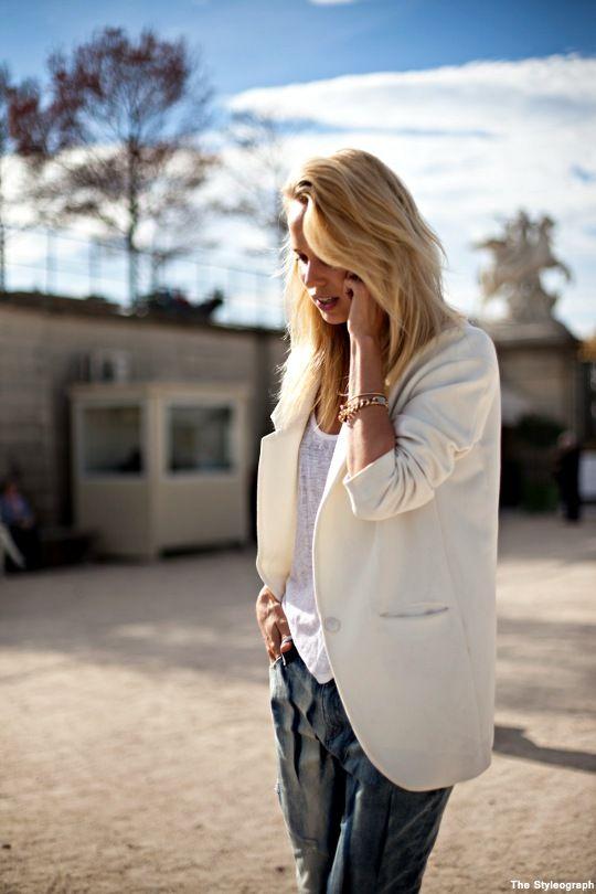 Elin Kling Street Style Paris Fashion Week