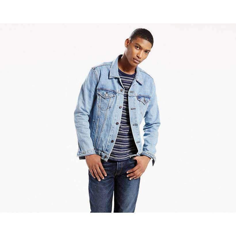 Levis Trucker Jacket Light Stone Wash Jean Jacket Men Levi Denim Jacket Mens Levi Denim Jacket