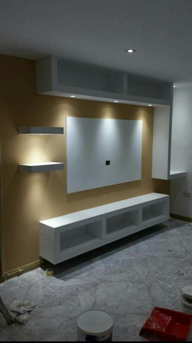Gypsum Modern Tv Wall Units Tv Unit Furniture Outdoor Furniture Sets