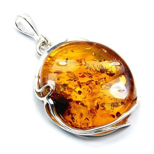 Delightful Sterling Silver Natural Baltic Amber Pendant  Price : $69.45 http://www.silverplazajewelry.com/Delightful-Sterling-Silver-Natural-Pendant/dp/B00DN76QNM