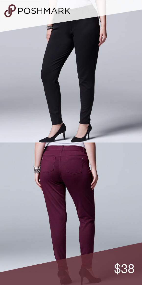 07dcf66fd7e Plus Size SIMPLY VERA WANG Ponte Skinny Pants Give your everyday look a  modern upgrade with these women s Simply Vera Vera Wang ponte pants.